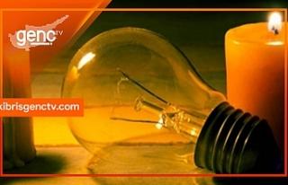 Girne'de 3 saatlik elektrik kesintisi