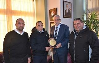 Güngördü, Cantürk ve Ercan Atasay'ı kabul etti