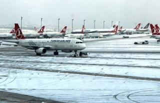 Hava koşulları nedeniyle Türkiye'de bazı uçak...