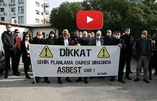 """KTAMS'dan Şehir Planlama Dairesi'nde """"Asbest""""..."""