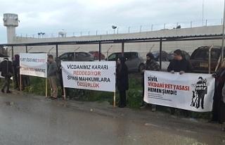 Merkezi Cezaevi önünde eylem