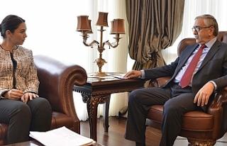 Mustafa Akıncı, Baybars'ı kabul etti
