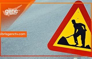 Ozanköy'de asfalt çalışması nedeniyle yol...