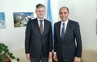 Özersay, BM Genel Sekreter Yardımcısı ile görüştü