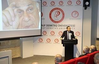 Rauf Denktaş, RDÜ'de düzenlenen etkinlikle...