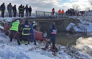 Tekirdağ'da otomobil dereye düştü: 8 ölü