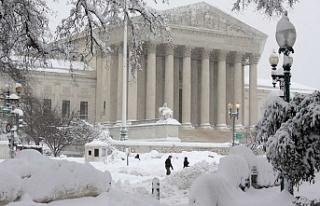 Washington'a yeni yılın ilk karı yağdı