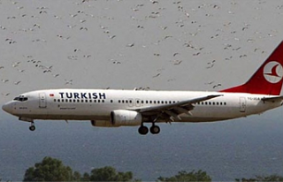 Atatürk Havalimanı'nda iniş yapan uçak kuş...