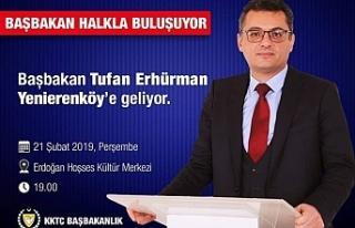 Başbakan, Perşembe günü Yenierenköy'de