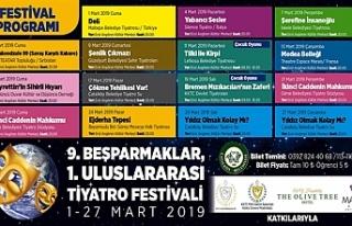 """""""Beşparmaklar Tiyatro Festivali"""" yarın başlıyor"""