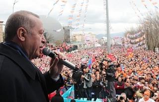 """Erdoğan: """"Kimsenin milletimize karamsarlık..."""