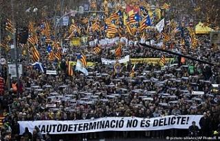 Katalan liderler için dev gösteri