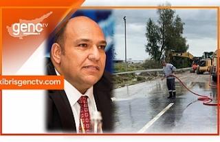 """Atakan açıkladı: """"Yol kenarı drenaj sistemlerinin..."""
