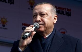 """Erdoğan'dan , Rize mitinginde CHP'ye """"Kıbrıs""""..."""