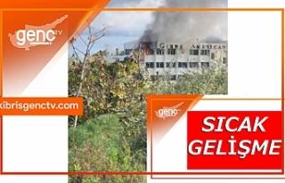 Girne Amerikan Üniversitesi yanıyor