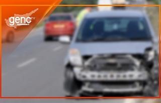 Girne 'deki trafik kazasında iki kişi yaralandı