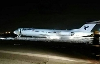 İran'da yolcu uçağı inişi sırasında alev...