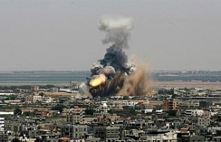 İsrail, Gazze'de Hamas'a ait bir mevziyi...