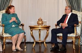 Mustafa Akıncı, Avusturya Büyükelçisi Eva Maria...