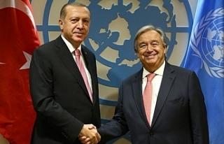 T.C. Cumhurbaşkanı Erdoğan, Guterres ile görüştü