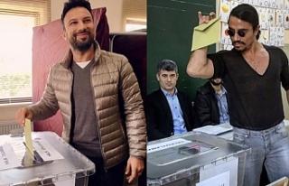 Türkiye'de ünlü isimler oylarını kullandı