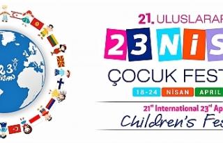 """21. Uluslararası 23 Nisan Çocuk Festivali"""" yarın..."""