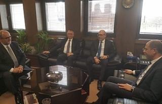 Özersay, Ankara'da TPAO Genel Müdürü ile...