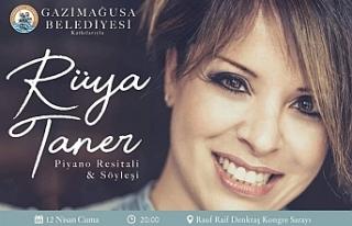 Piyanist Rüya Taner, Gazimağusa Belediyesi'nin...