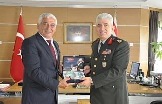 Tuğgeneral Kaya Özçınar'a nezaket ziyaretinde...