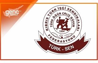 """Türk Sen: """"Bu yıl da buruk kutluyoruz"""""""