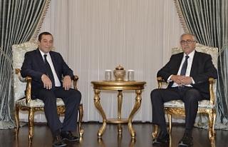 Akıncı, DP Genel Başkanı Denktaş'ı kabul...