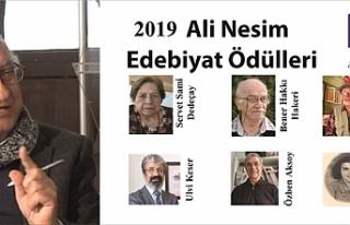 """""""Ali Nesim Edebiyat Ödülleri""""nin bu yılki sahipleri..."""