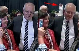 Avustralya Başbakanı Morrison'a yumurtalı saldırı
