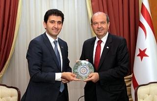 Başbakan Tatar, Azeri Milletvekili Hamzayev'i...