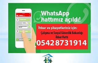 Çalışma ve Sosyal Güvenlik Bakanlığı Whatsapp...