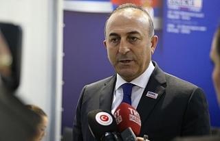 """Çavuşoğlu: """"Kıbrıs sorunu için çaba sarf..."""