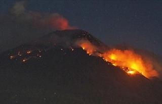 Endonezya'nın Agung Yanardağı'nda hareketlilik