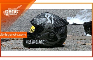 Girne'de motor kazası: Sürücü yoğun bakımda