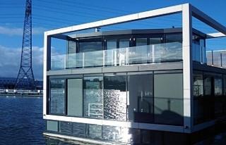 Hollanda küresel ısınmaya yüzen evlerle önlem...