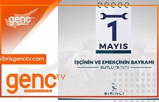 Kıbrıs Genç TV, tüm emekçilerin 1 Mayıs Birlik,...