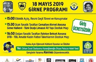 Leymosun Kültür Vakfı 18 Mayıs'tasportif bir...