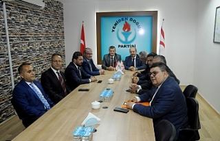 Tatar ve heyetinden YDP'ye ziyaret