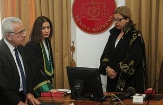 Terfi eden yargıçlar yemin etti