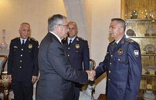Akıncı, Polis genel Müdürü ve heyetini kabul...