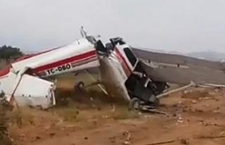 Antalya'da sivil eğitim uçağı düştü: 1...