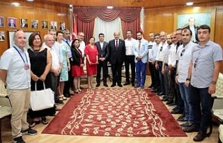 Başbakan Tatar, Alanya ve Antalyalı gazetecileri...