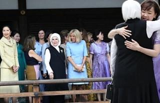 Dünya liderlerinin eşleri Japonya'da bir araya...