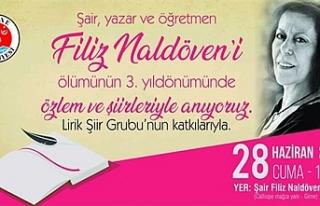 Filiz Naldöven şiirlerle anılacak