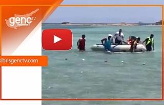 Glapsides Plajı açıklarında ölümden döndüler