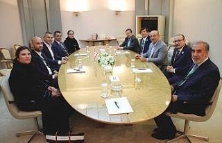 Meclis Başkanı Teberrüken Uluçay ve Çavuşoğlu...